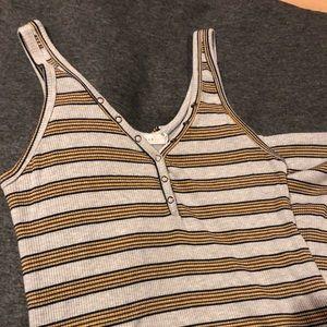 Lush body con midi stripe dress